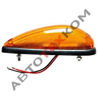 Фонарь автопоезда S-014 (24В) LED 3 диода (желтый) капля