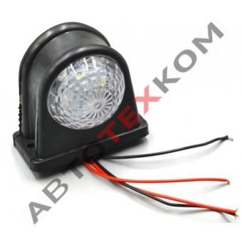 Фонарь габаритный Е-102 (12/24В) LED красно-белый (ан.S-033)