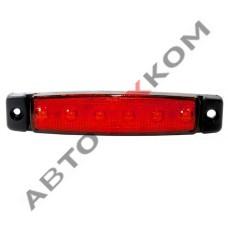 Фонарь габаритный S-005 (24В) красный 6LED + скотч (ан.YP-104)