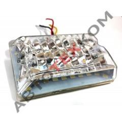 Фонарь габаритный S-022 (24В) 26 диодов LED серебро (с подсветкой колеса)