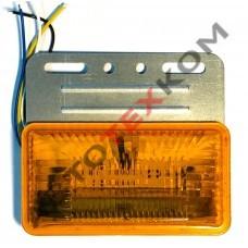 Фонарь габаритный S-024 (24В) LED желтый (с подсветкой колеса)