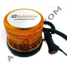 Маяк импульсный ТАС-М17-48 LED (10/30В)  48LED 2 режима (на магните + штекер) D=115мм, Н=120мм