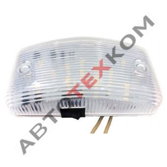 Плафон салона накладной (12/24) LED 12 диодов (малый) с выключателем