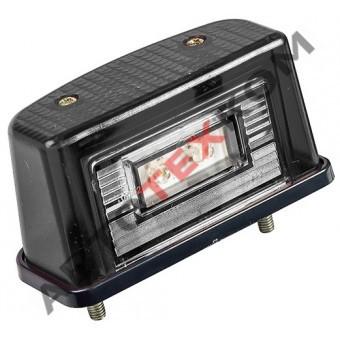 Фонарь освещения номерного знака ЕС-12 (12/24В) LED черный (с проводом)