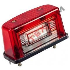 Фонарь освещения номерного знака ЕС-12 (12/24В) LED красный (с проводом)