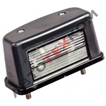 Фонарь освещения номерного знака ЕС-12.02 (б/л) черный (с проводом)