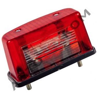 Фонарь освещения номерного знака ЕС-12.02 (б/л) красный (с проводом)