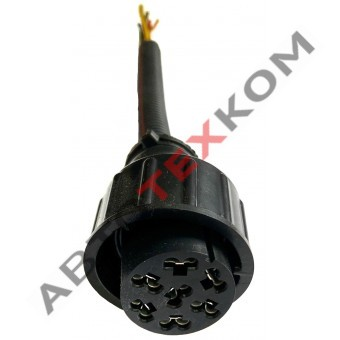 Провод с разъемом ASS-2 в фонарь (7конт. )  20см  ответная часть ТАС-680092