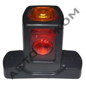 Фонарь габаритный 019-0019.3731-01 (12/24В) LED (L=90 мм) с дополнительным габаритом сбоку