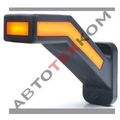 Фонарь габаритный ФГ-50-01R (12/24В) правый LED с сигналом поворота