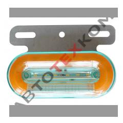 Фонарь габаритный SQ-7006-12 (12В) 24LED овальный НЕОН (с подсветкой колеса)