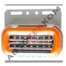 Фонарь габаритный SQ-7007-24 (24В) 59LED с подсветкой колеса (+ функция уп БЕГУЩИЙ ОГОНЬ)