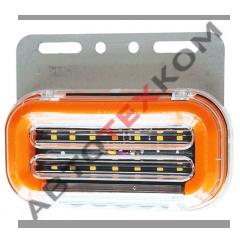 Фонарь габаритный SQ-7007-12 (12В) 59LED с подсветкой колеса (+ функция уп БЕГУЩИЙ ОГОНЬ)