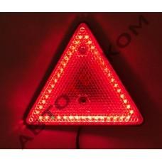 Световозвращатель треугольный ФП-421 LED красный (15 диодов)
